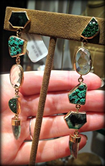 Earrings by Melissa Joy Manning. Via Diamonds in the Library.