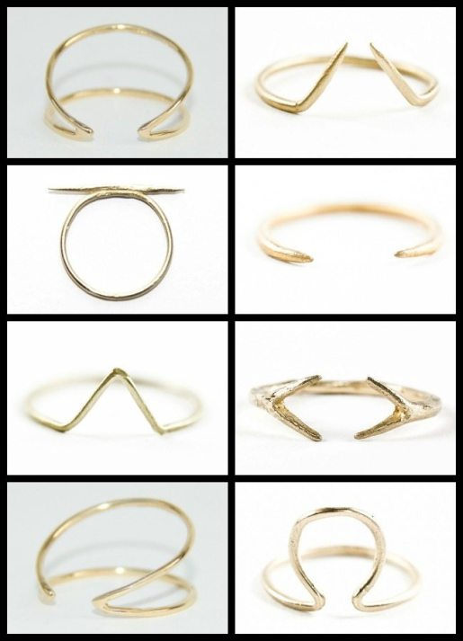 Gold rings by WWAKE. Via Diamonds in the Library.