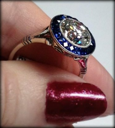 Art Deco sapphire and diamond ring at Chas Schwartz & Son