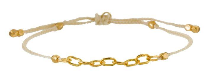 Tai ivory nylon gold link bracelet