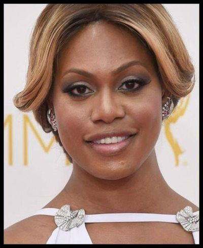 A closer look at Laverne Cox in Fred Leighton retro diamond jewels at the 2014 Emmy awards