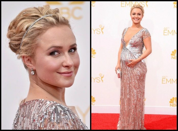 Hayden Panettiere in Fred Leighton diamonds at the 2014 Emmy awards