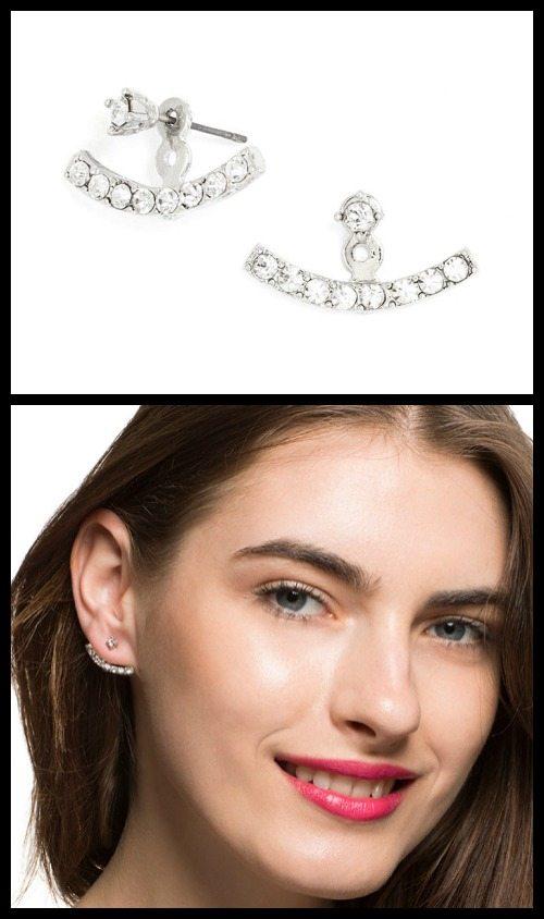 Crystal Arc Ear Jackets by BaubleBar.