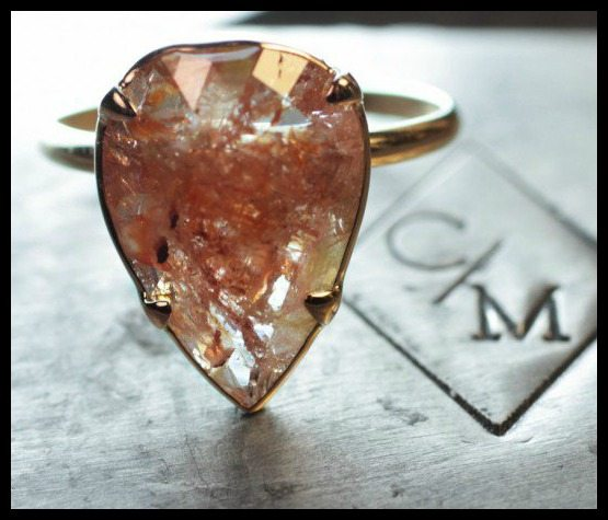 One of a kind range diamond engagement ring by ChincharMaloney.
