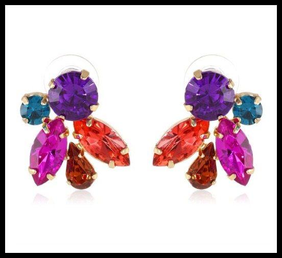 Betsey Johnson Carnival crystal cluster stud earrings ($30).