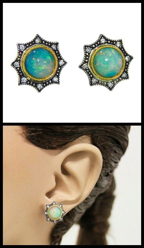 Arman Opal Star stud earrings.