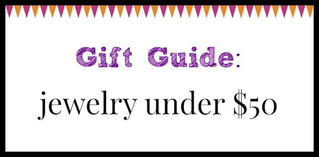 Diamonds in the Library jewelry gift guide; jewelry under $50