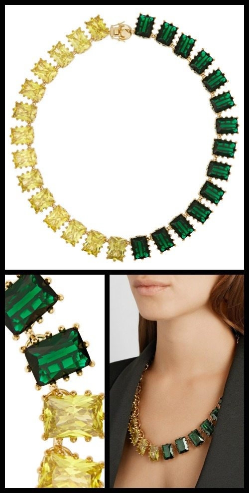 Eddie Borgo Estate gold-plated crystal necklace.