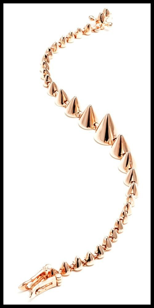 Eddie Borgo graduating mini cone bracelet in rose gold.
