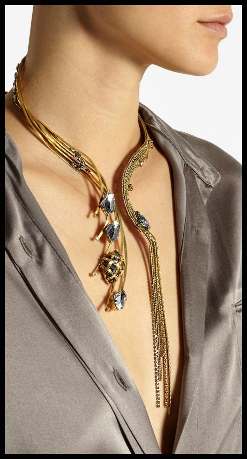 Erickson Beamon Heart of Gold gold-plated Swarovski crystal necklace