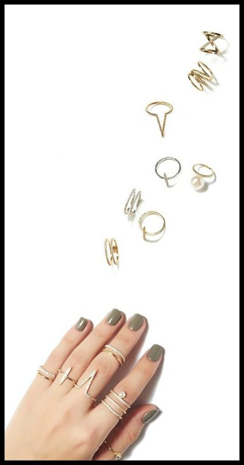 Jeweliq fashion rings; perfect for stacking.