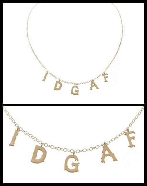 Wendy Brandes small IDGAF necklace in 18k yellow gold