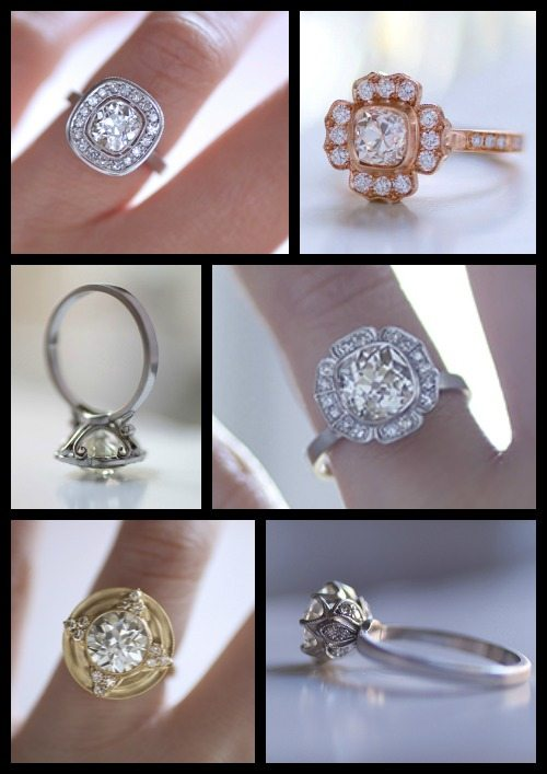 Dreamy engagement rings by Erika Winters.