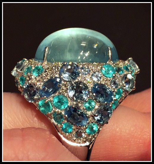Beautiful Paraiba tourmaline ring by Brumani