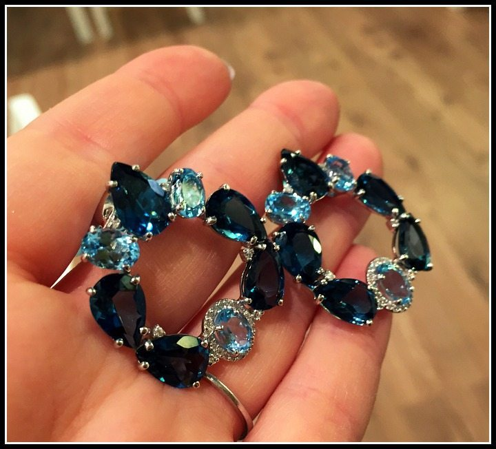 Fabulous London blue topaz and diamond earrings by Vianna Brasil