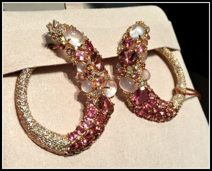 Spectacular gemstone earrings by Brumani.