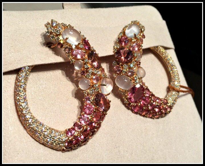 Spectacular gemstone earrings by Brumani.