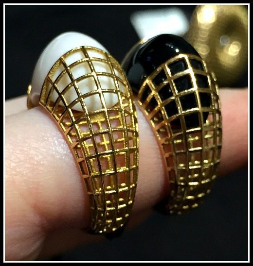 Two gold cage rings from Mattioli