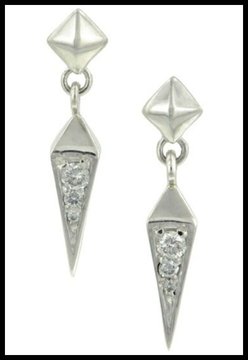 Heirloom by Doyle & Doyle Plumb earrings in sterling silver with diamonds