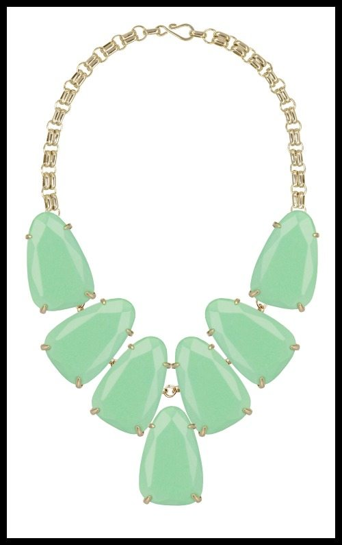 Kendra Scott Harlow Necklace, Seafoam Magnesite.