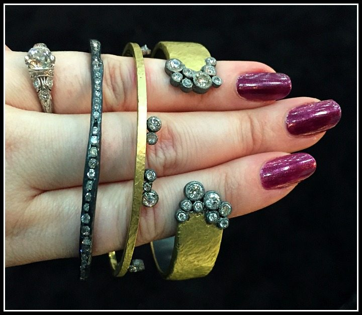 Fabulous diamond and gold bracelets by TAP by Todd Pownell
