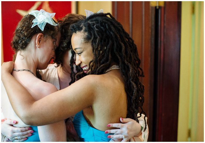 Bridesmaid love before my wedding at the Vandiver Inn. Photography by Angel Kidwell.