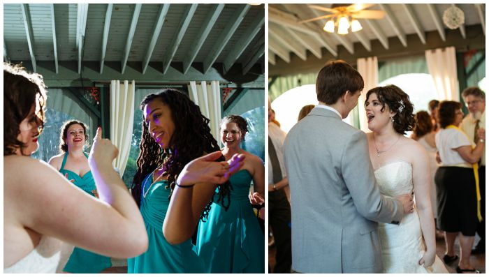 Dance floor shenanigans at our wedding reception. Photos by Angel Kidwell.