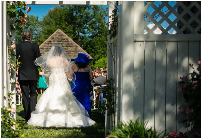 Heading down the aisle at my Vandiver Inn wedding. Photography by Angel Kidwell.