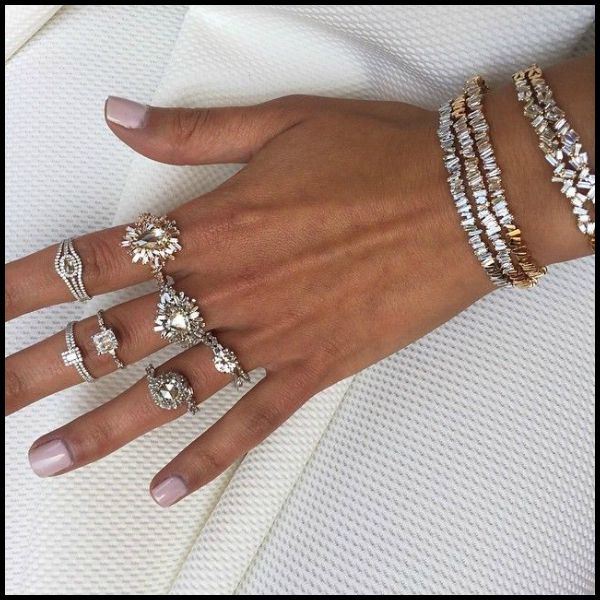 Suzanne Kalan's fabulous diamond baguette pieces