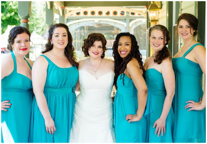 With my friends and sister, the best bridesmaids any bride has ever had. Photography by Angel Kidwell.