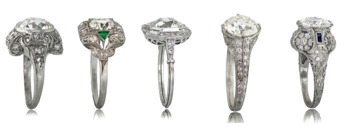 10 reasons to choose an antique engagement ring - featuring antique rings from Estate Diamond Jewelry