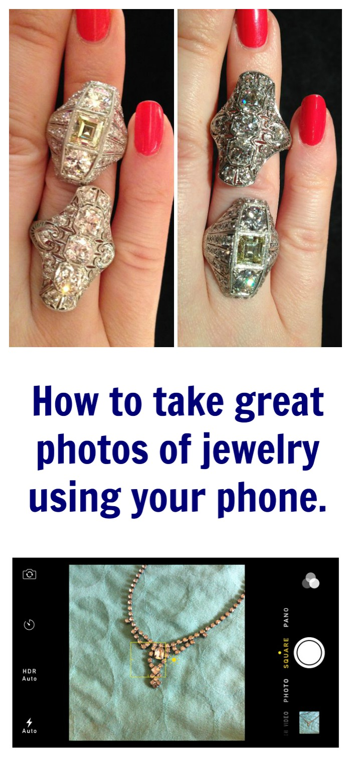 How to take great jewelry photos with your phone - take your bling pics to the next level with this 5 step tutorial.