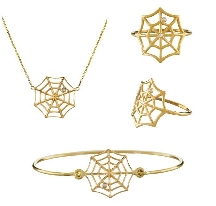 Jennie Kwon spiderweb jewelry at Twist Online.