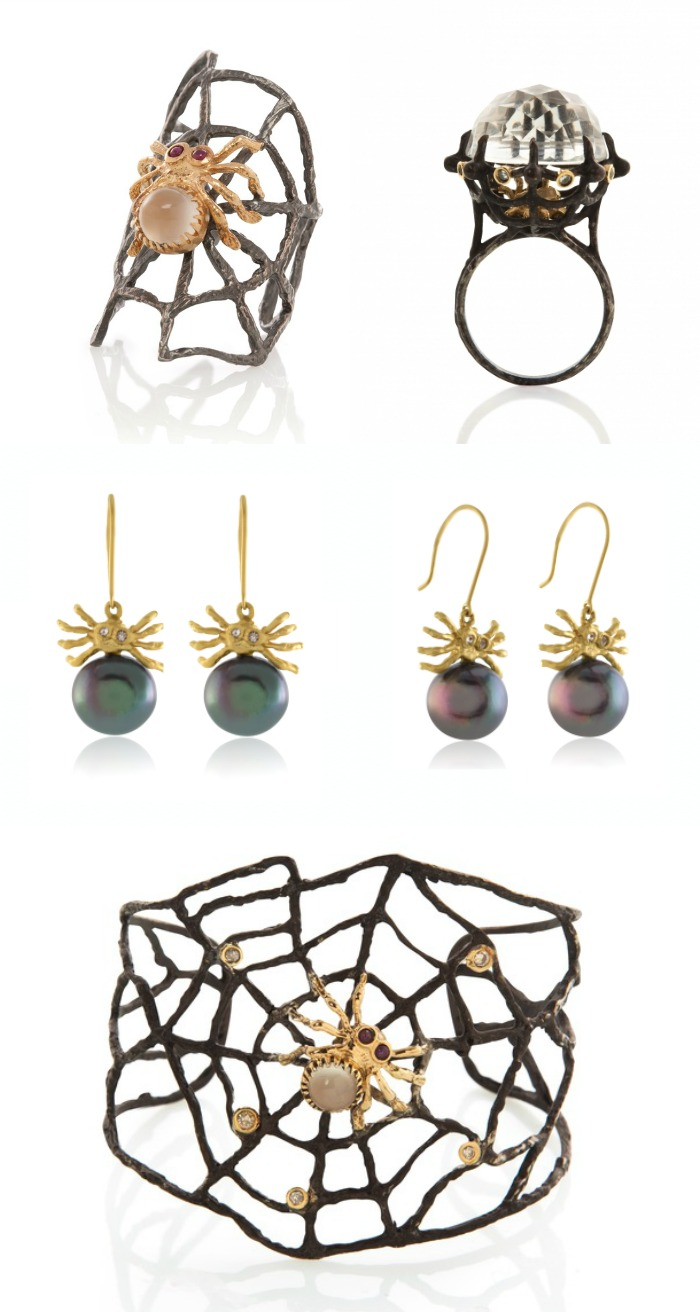 Spider jewelry by Anna Ruth Henriques.