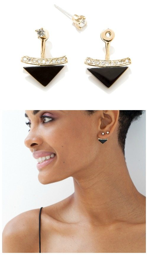 Capwell + Co Socialite ear jackets in black onyx.