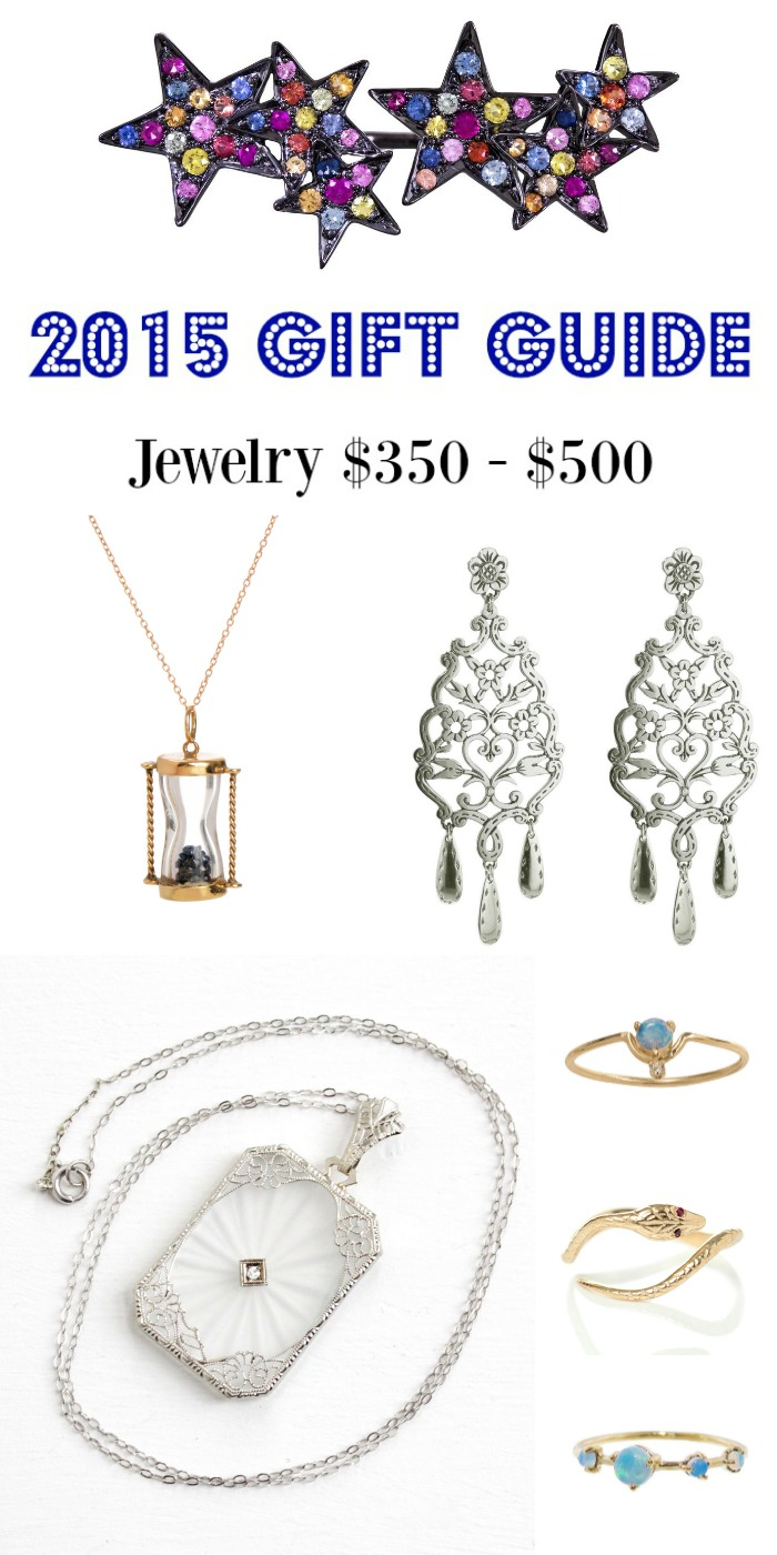 Diamonds in the Library's 2015 jewelry gift guide; jewelry $350- $500