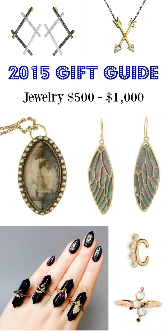 Diamonds in the Library's 2015 jewelry gift guide; jewelry $500-$1000