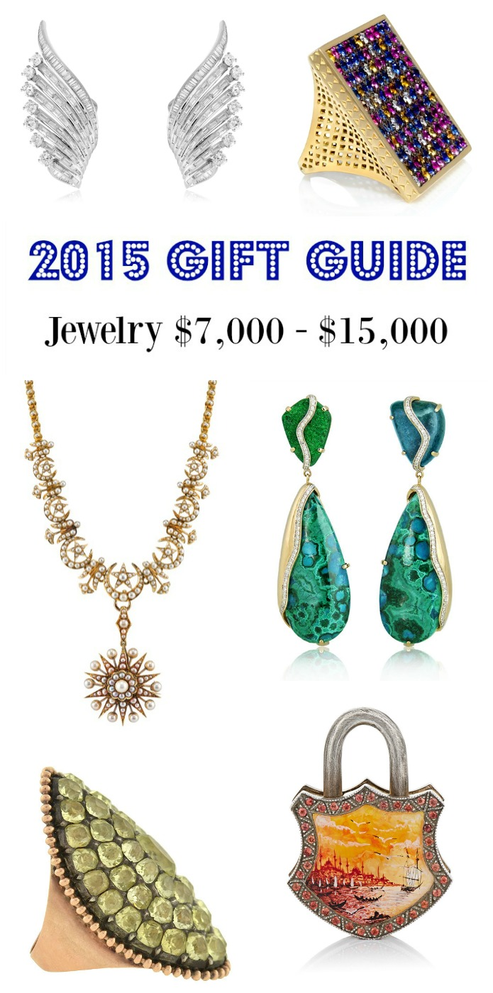 Diamonds in the Library's 2015 jewelry gift guide - jewelry $7000 - $15000