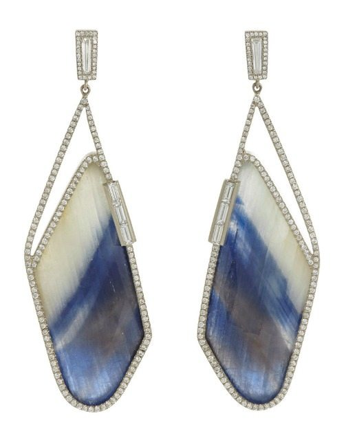 Monique Péan sapphire slice and diamond earrings.