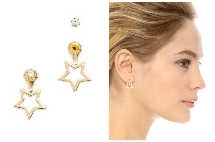 Star ear jackets from Noir Jewelry's Jem and the Holograms collection.