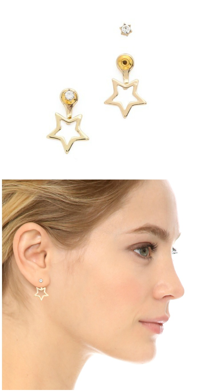 Star ear jackets from Noir Jewelry's Jem and the Holograms collection. So fun!