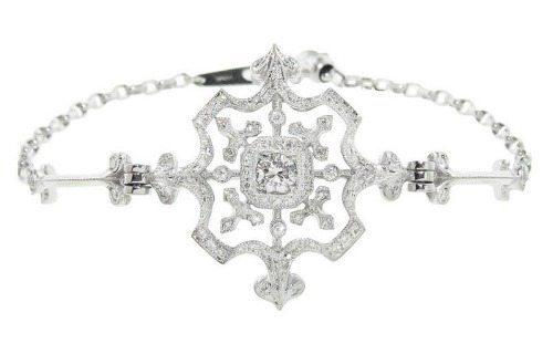 The Kataoka snowflake bracelet in diamonds.