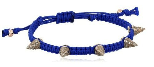 The Tai studded navy bracelet with Swarovski crystals.