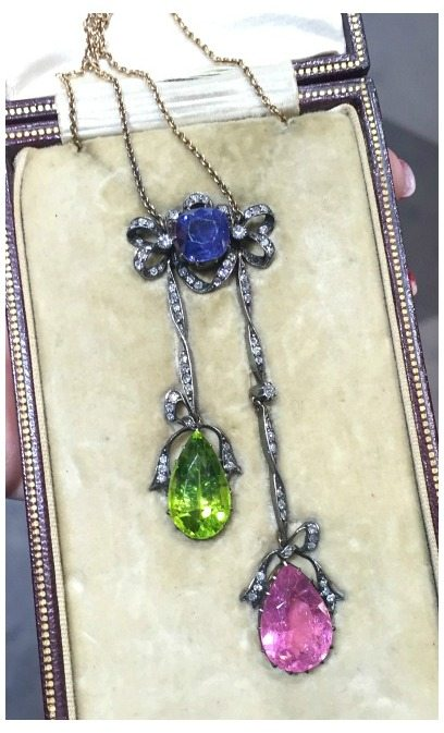 An incredible antique lavalier necklace at Spicer Warin.