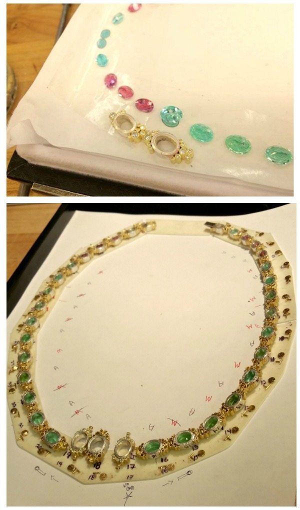 Behind the scenes; the design process of a one-of-a-kind Todd Reed tourmaline and diamond necklace.
