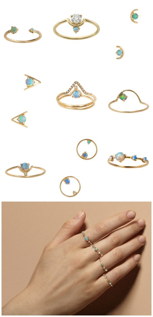 Diamonds in the Library's top posts of the year - WWAKE's tiny, delicate gold and opal jewels.