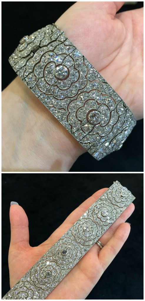 A glorious antique Art Deco diamond bracelet from Hancocks.