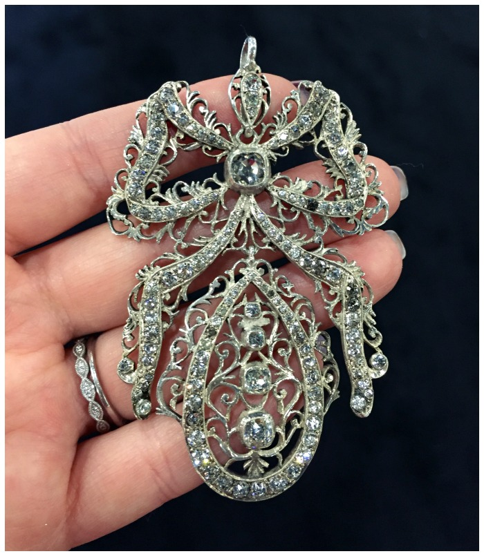 A glorious antique Victorian diamond pendant from Prather Beeland.