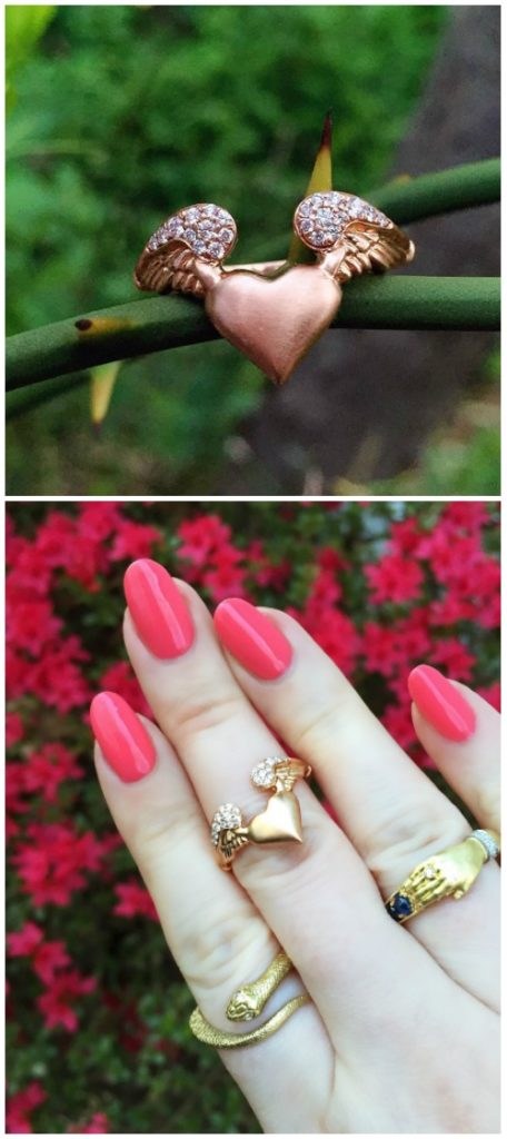 Beautiful gold rings by Anthony Lent.