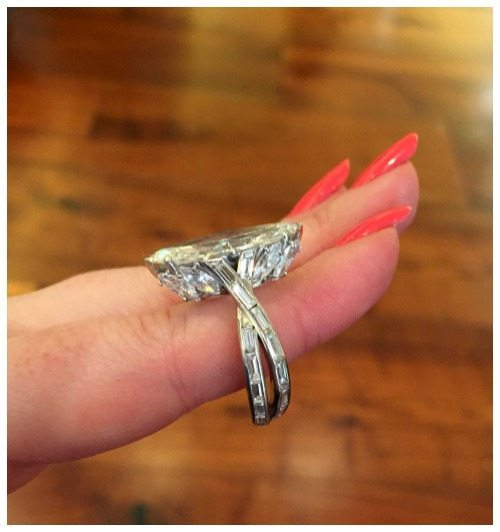 A beautiful vintage 4.72 carat marquise cut diamond ring by Sterlé. Circa 1950's. At FD Gallery.